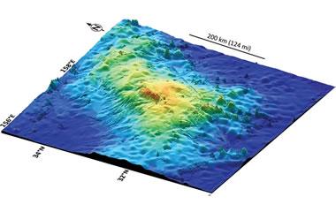 Tamu Massif - largest volcano