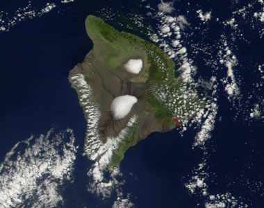 Mauna Kea from Space