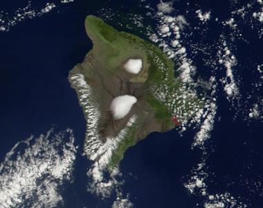 Mauna Kea Satellite View