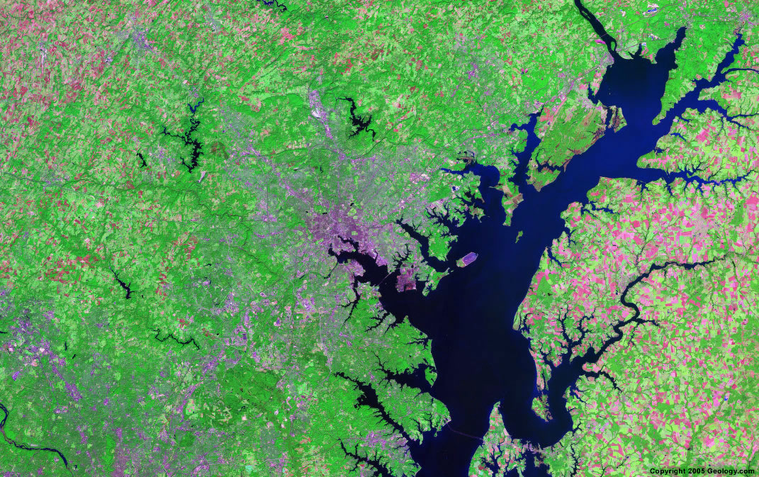 Baltimore satellite map
