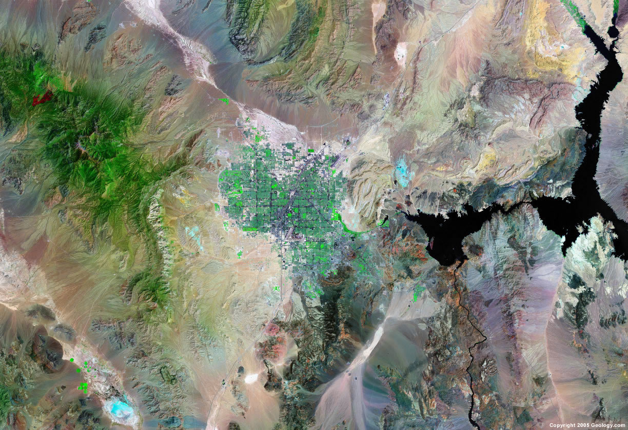 Las Vegas satellite map