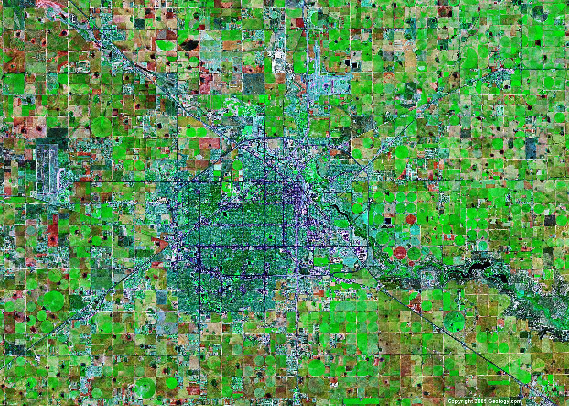 Lubbock satellite map