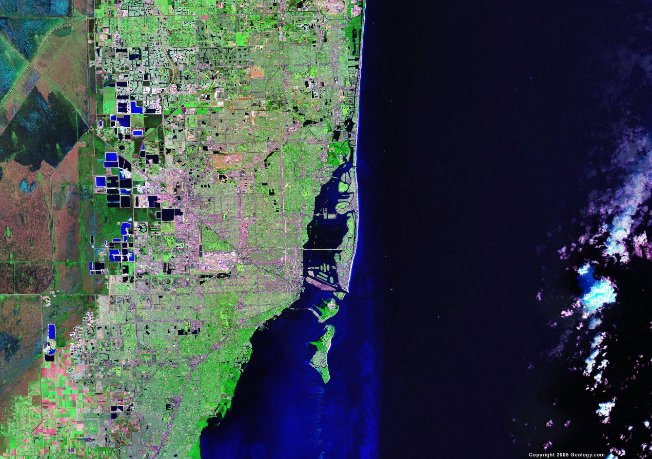 Miami satellite map