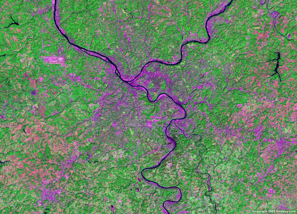 Pittsburgh satellite map