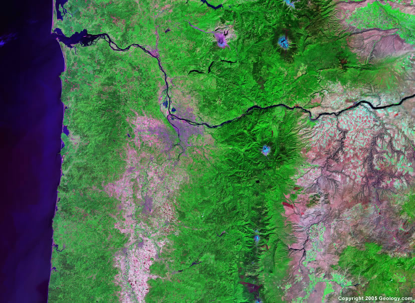 Portland satellite map