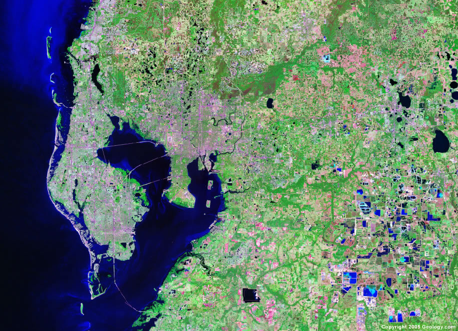 Tampa satellite map