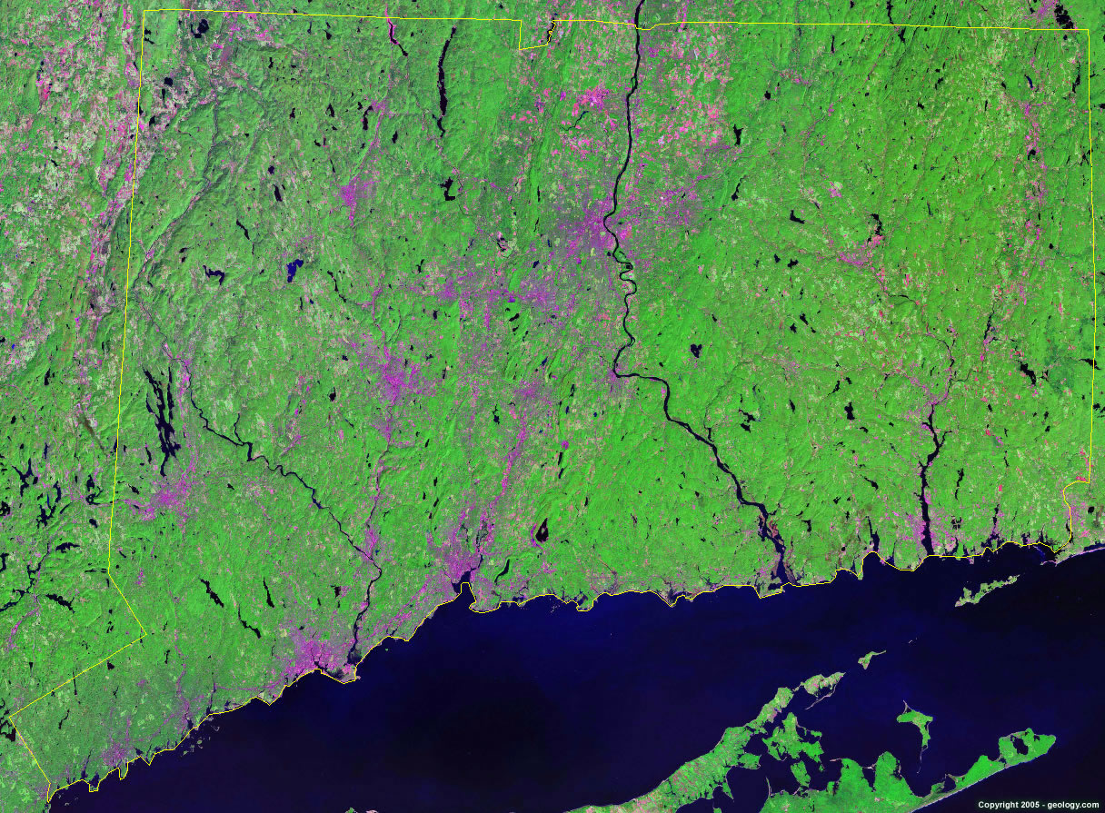 Connecticut satellite photo