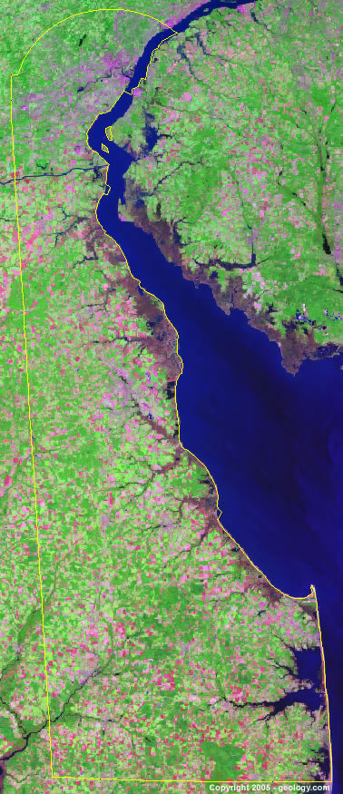 Delaware satellite photo