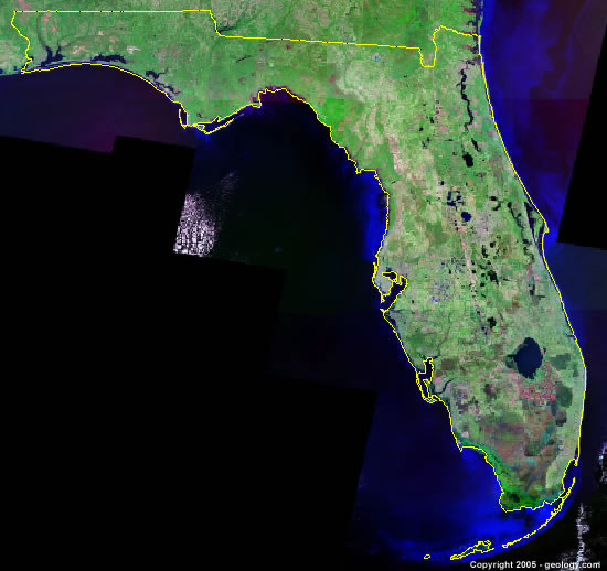 Satellite Map Florida