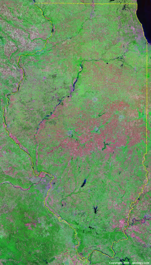 Illinois satellite photo