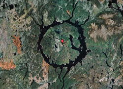 Meteor Crater Satellite Images