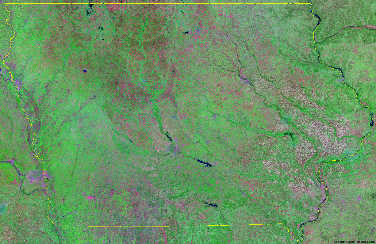 Iowa satellite photo