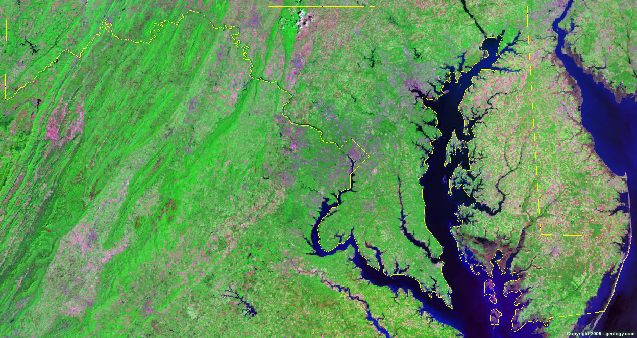 Maryland satellite photo