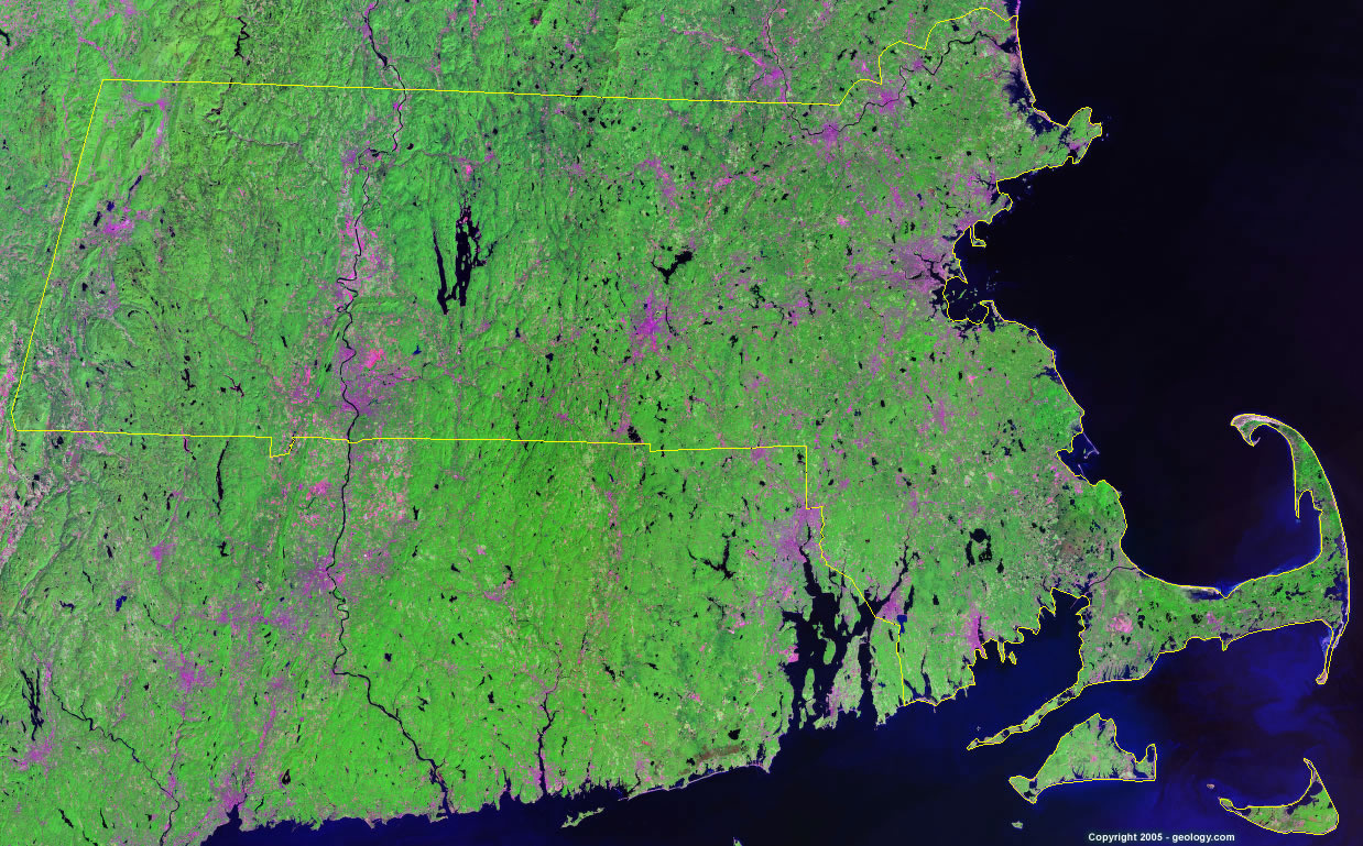 Massachusetts satellite photo