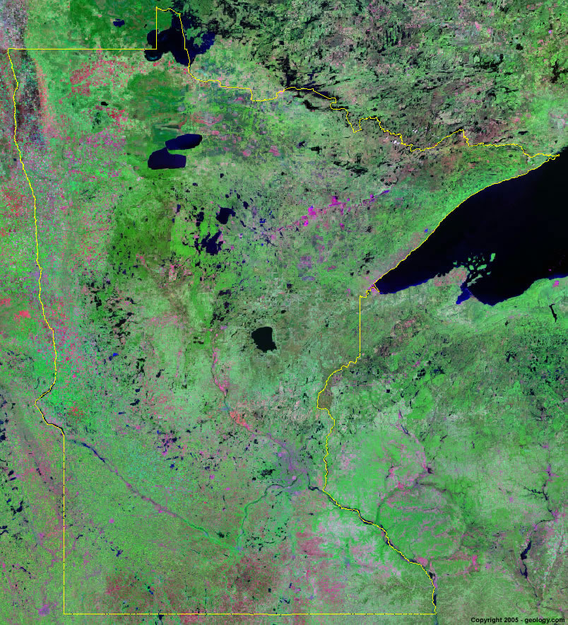 Minnesota satellite photo