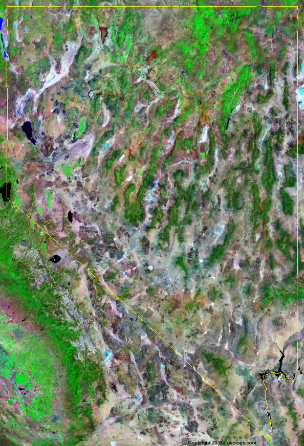 Nevada Satellite Images Landsat Color Image - Show me a map of nevada