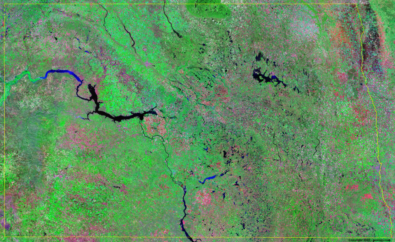 North Dakota Satellite Images - Landsat Color Image