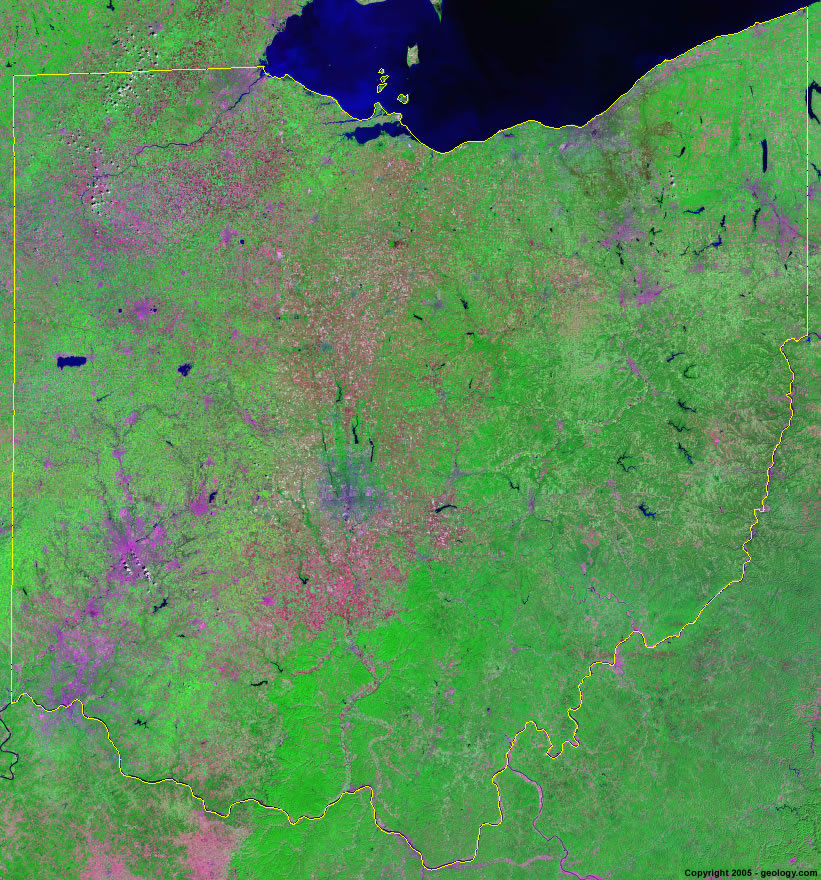 Ohio satellite photo