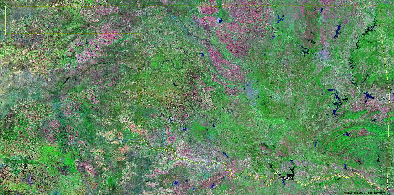 Oklahoma satellite photo