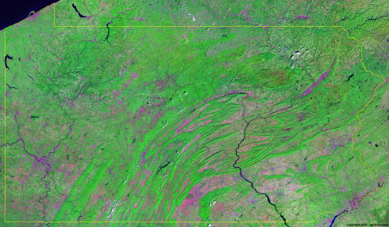 Pennsylvania satellite photo