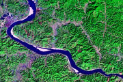 satellite images of lakes, rivers and swamps