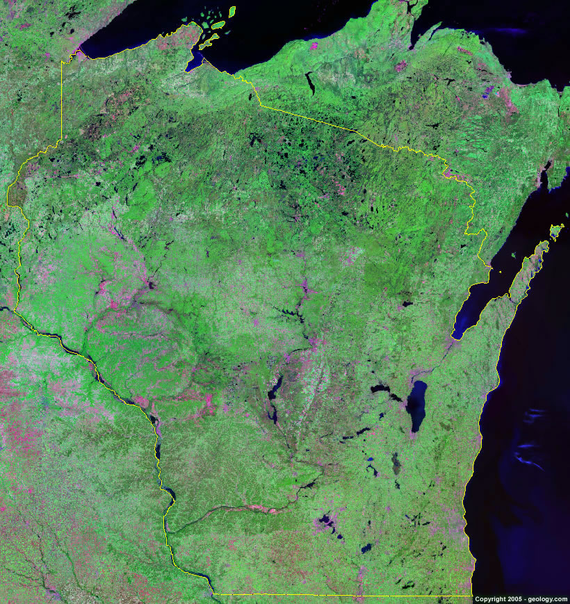 Wisconsin satellite photo