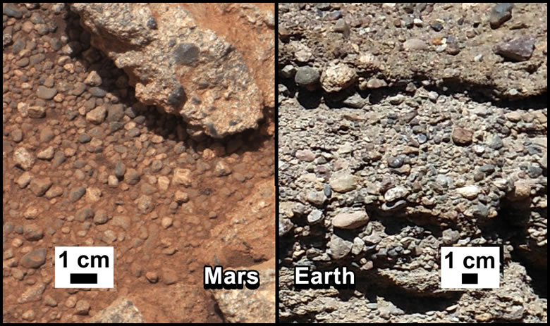 Mars Conglomerate Outcrop