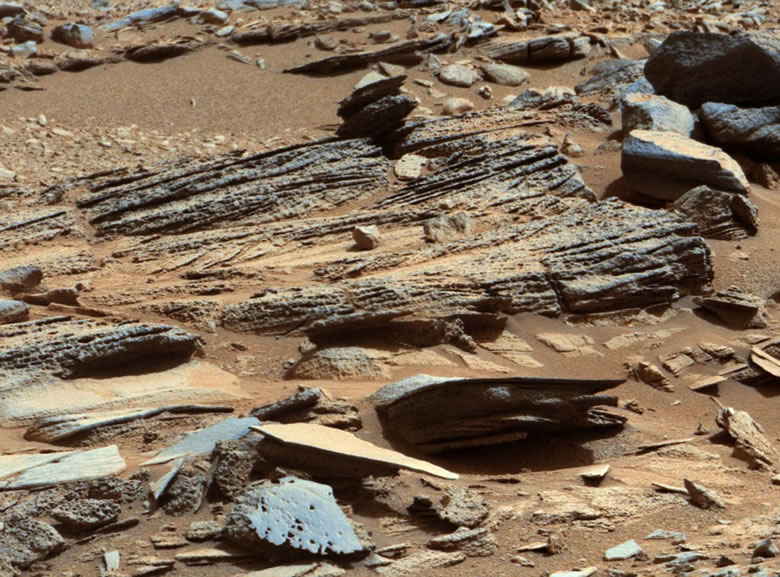 Mars Cross Bedding Outcrop