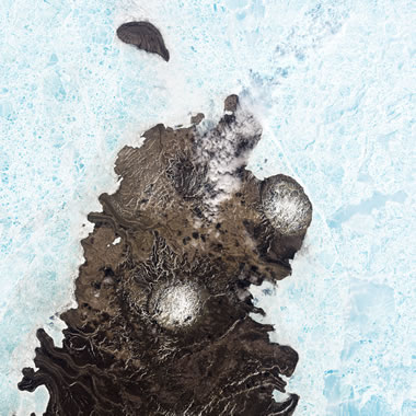Salt domes erupted to the surface of Melville Island in northern Canada