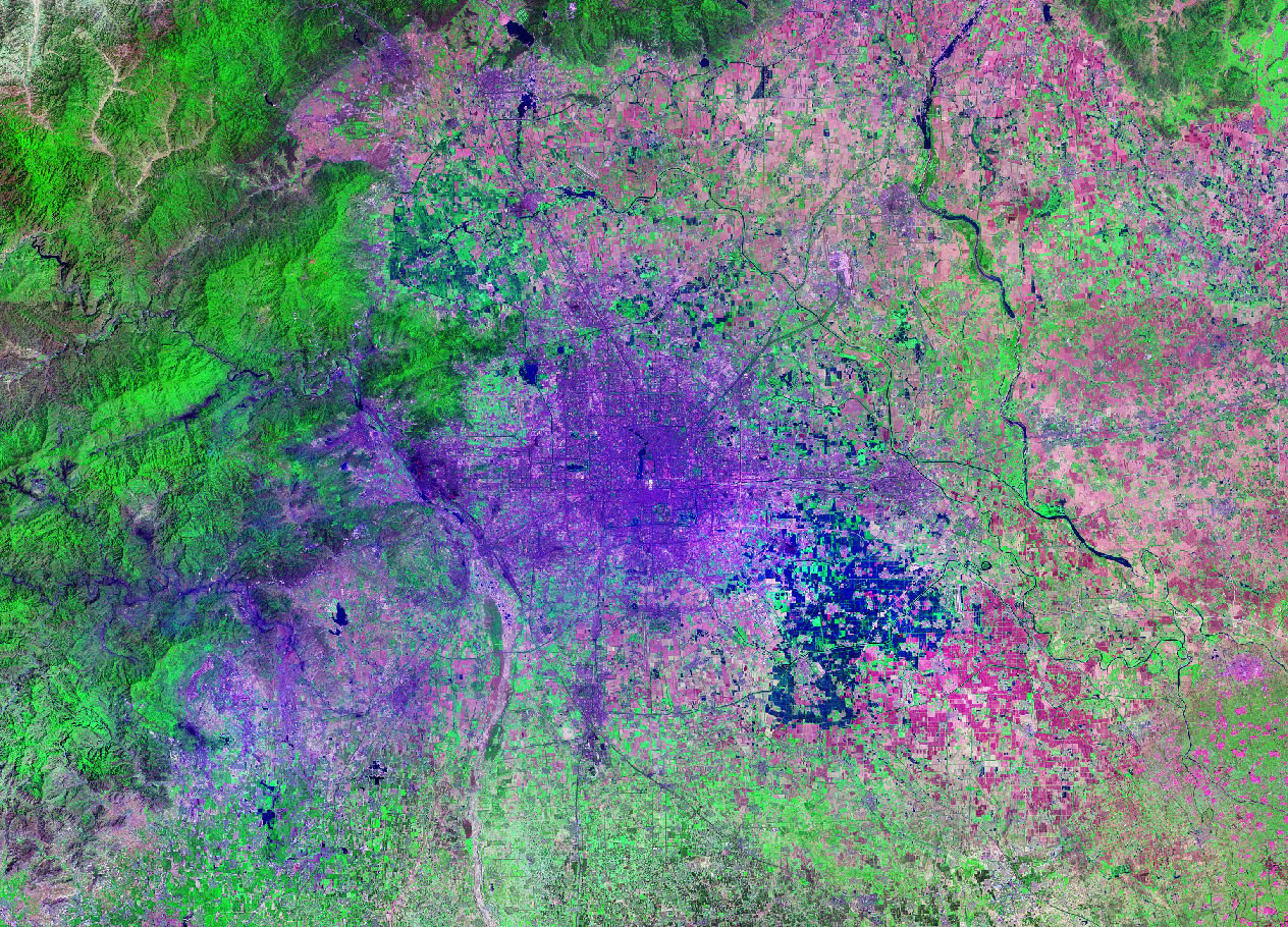 Beijing China satellite image map