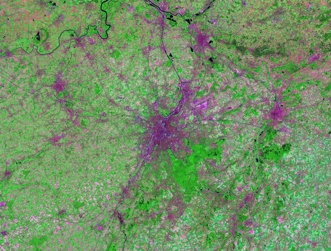 Brussels Belgium satellite image map