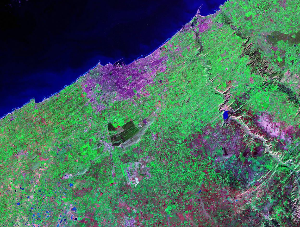 Casablanca Morocco satellite image map