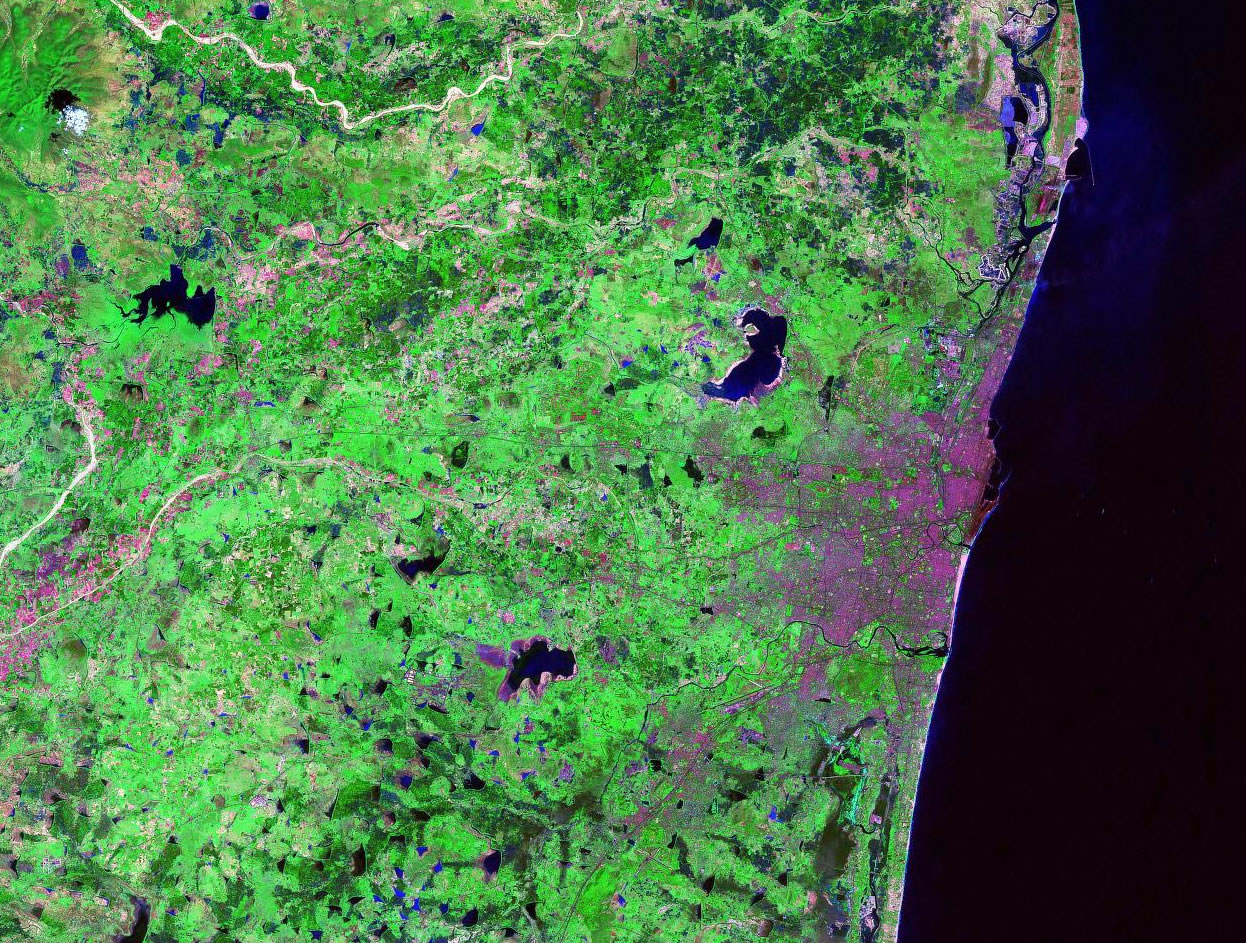 Chennai India satellite image map