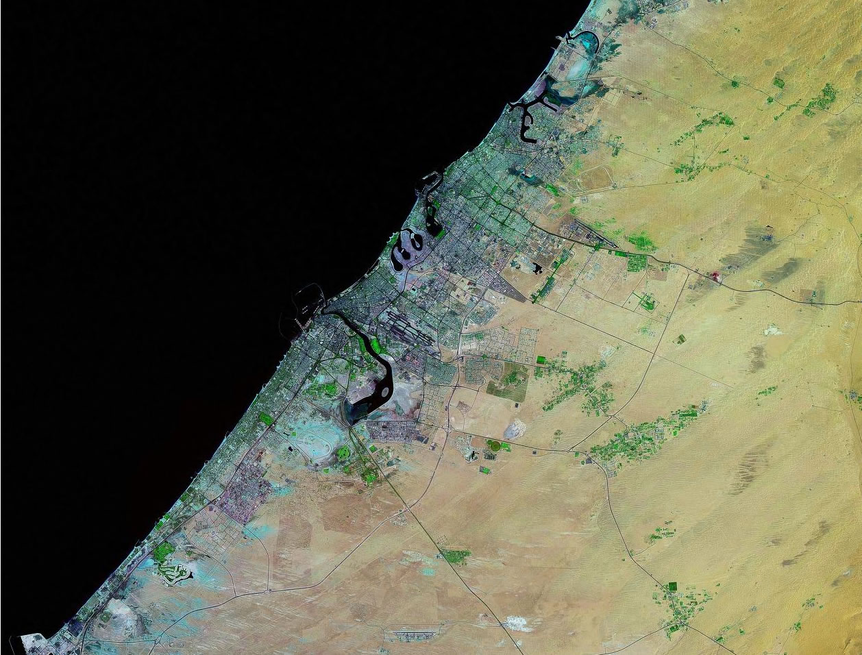 Dubai United Arab Emirates satellite image map