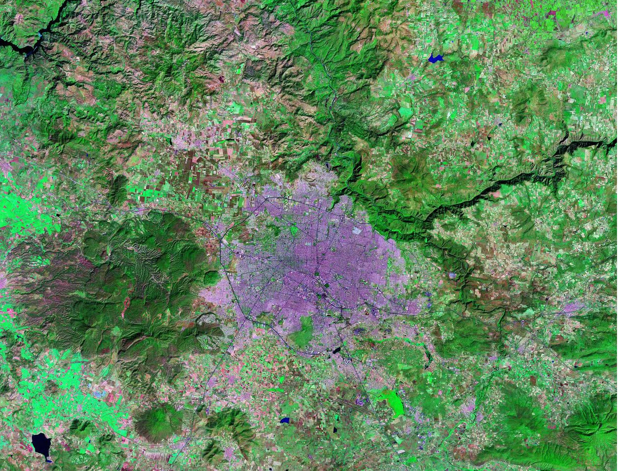 Guadalajara Mexico satellite image map