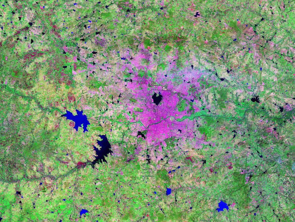 Hyderabad India satellite image map