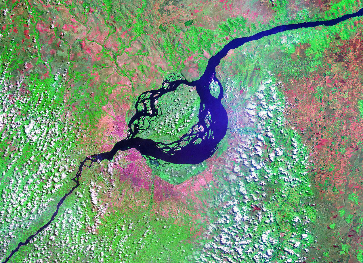 Kinshasa Democratic Republic of the Congo satellite image map