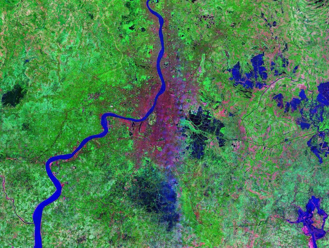 Kolkata India satellite image map