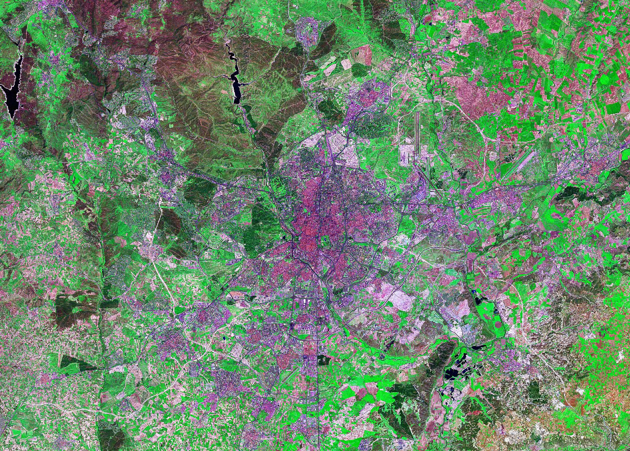 Madrid Spain satellite image map