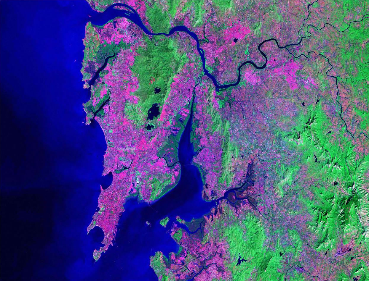 Mumbai India satellite image map