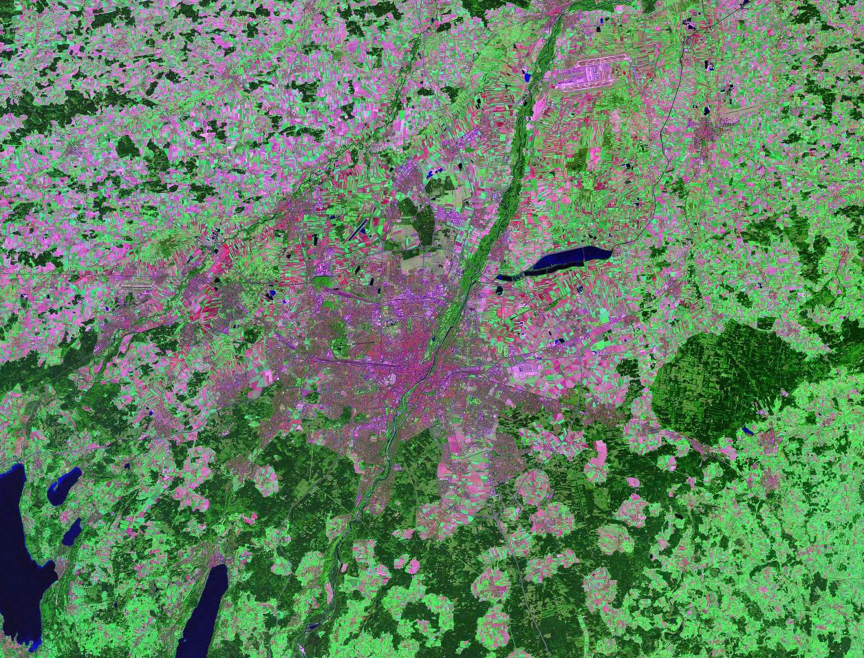 Munich Germany satellite image map
