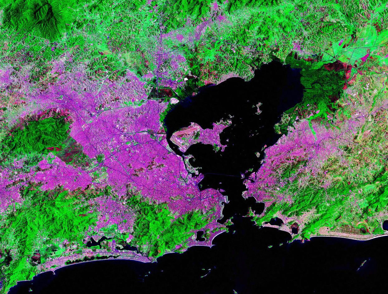 Rio de Janeiro Brazil satellite image map