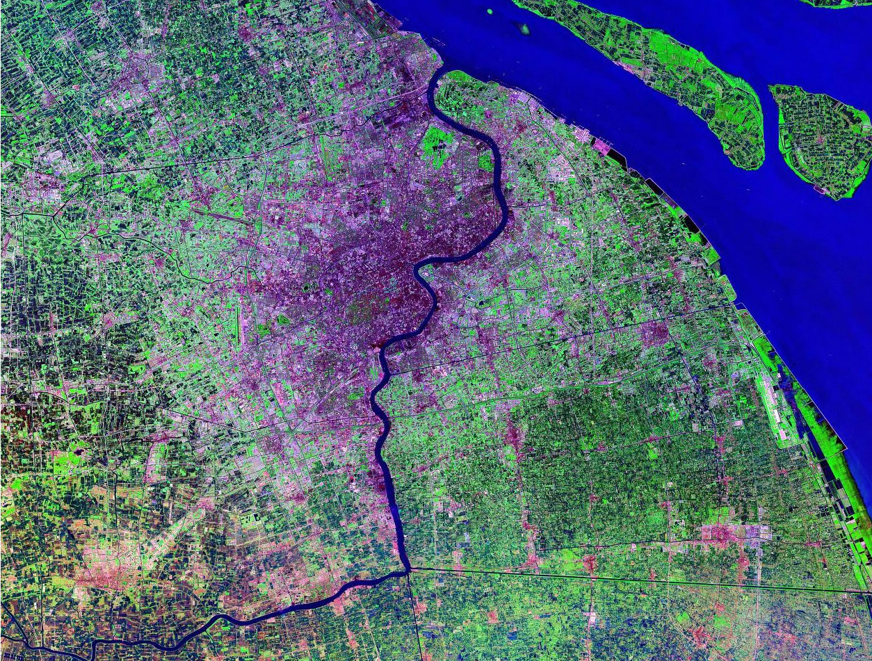 Shanghai China satellite image map