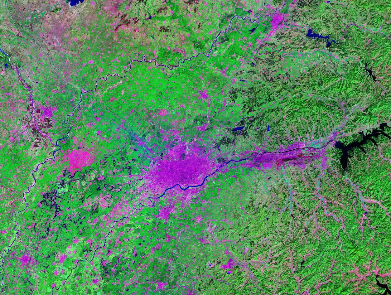 Shenyang China satellite image map