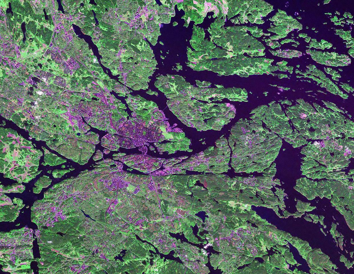 Stockholm Sweden satellite image map