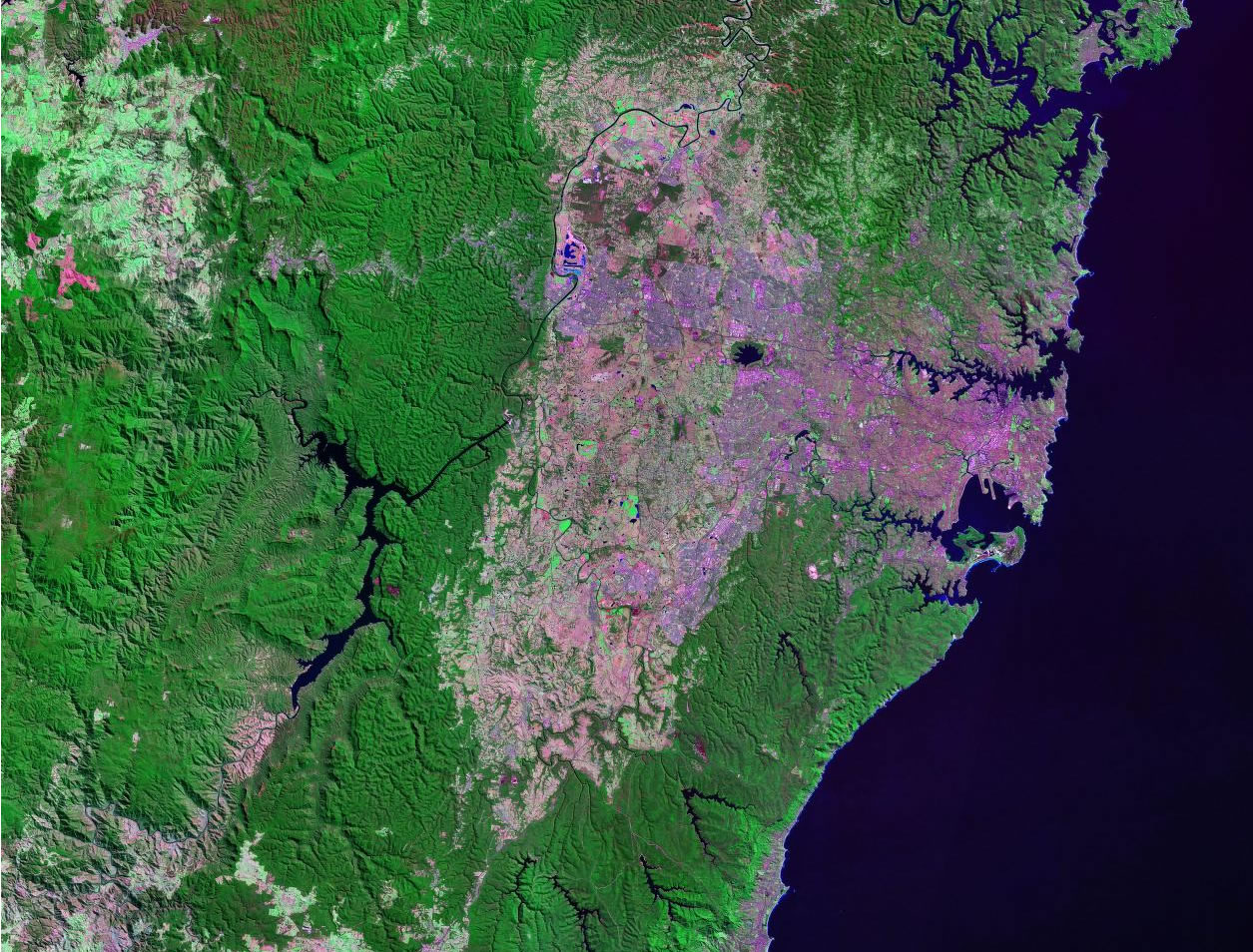 Sydney Australia satellite image map