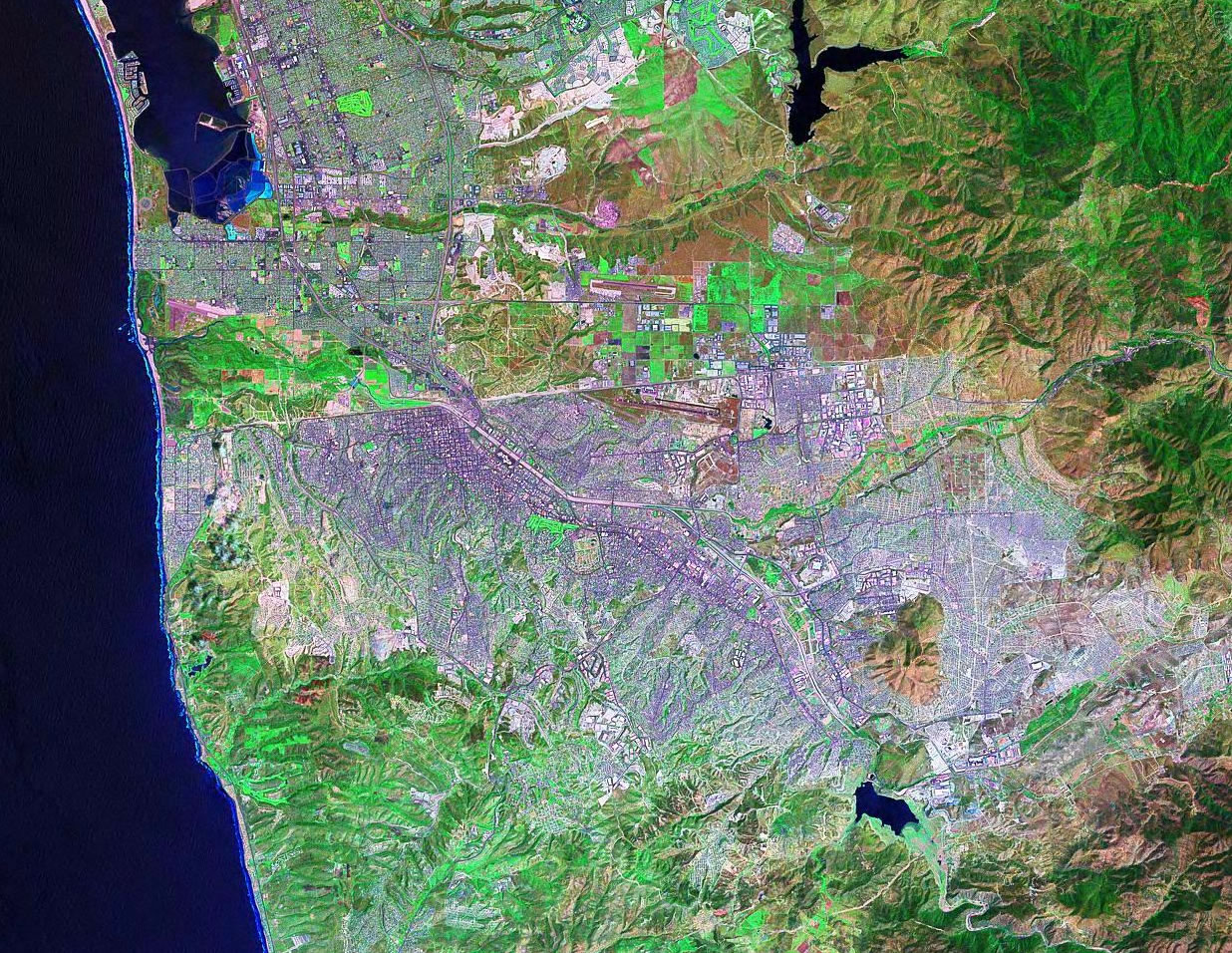 Tijuana Mexico satellite image map