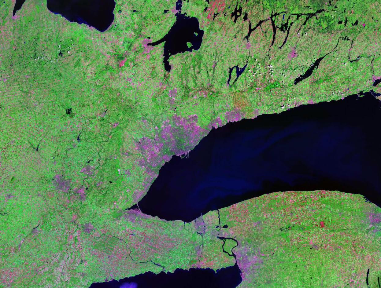 Toronto Canada satellite image map