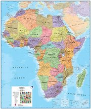 Central African Republic On a Large Wall Map of Africa