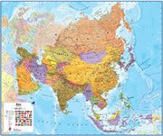 Russia On a Large Wall Map of Asia